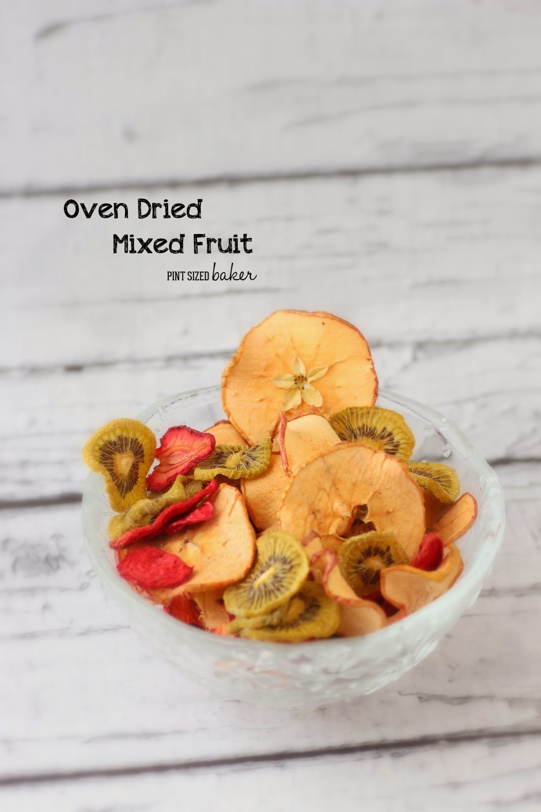 No refined sugars or additives, just dehydrated fruit made in your oven.
