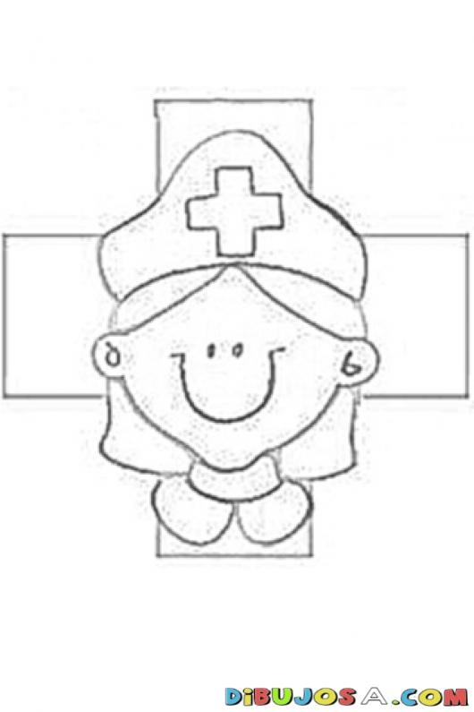 Dibujos para colorear en el da de la Cruz Roja  Amiguito En Lnea