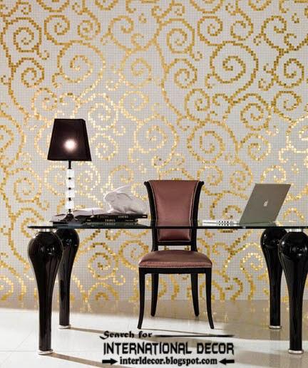Stylish Wall Tiles Golden Pattern