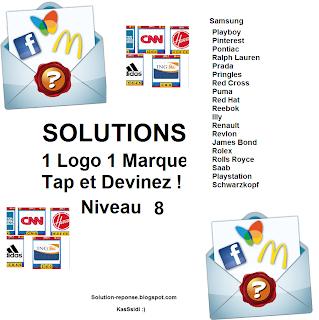 Solution 1 marque 1 logo quiz niveau 8