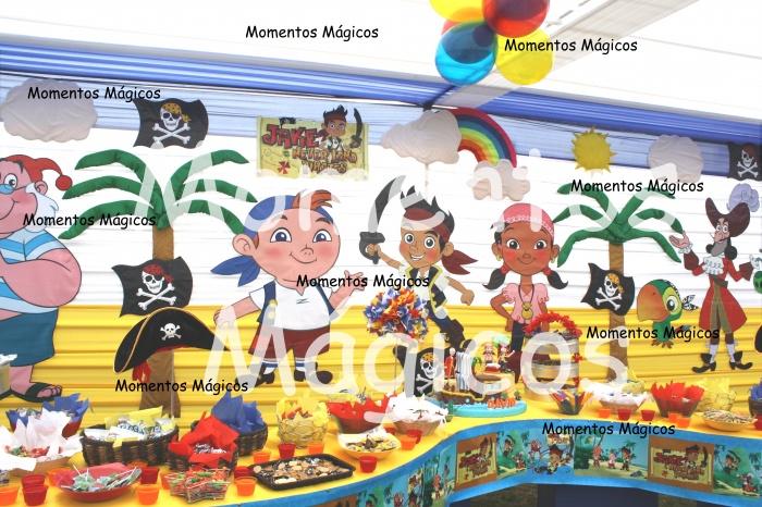 Decoración de fiestas infantiles jake y los piratas de nunca jamas ...