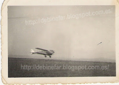 Avioneta en San Quilez Binefar en los años 30-40