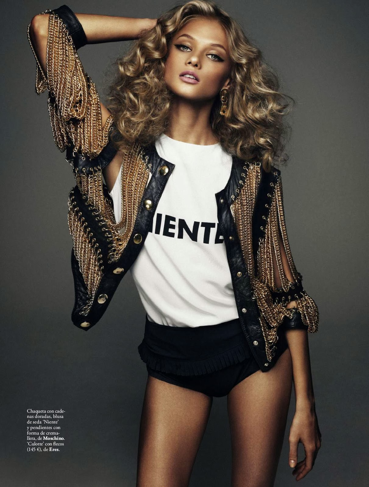 Anna Selezneva HQ Pictures Elle Spain Magazine Photoshoot March 2014