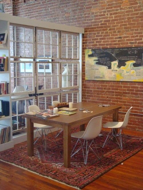 garage divider ideas - Repurposed Salvaged Old Windows into Room Dividers