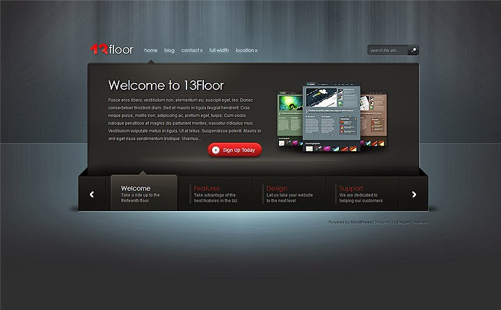 wordpress themes 13 floor bisma template