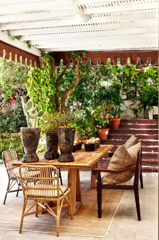 artesania en la terraza