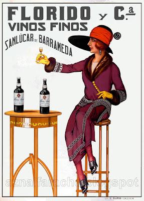 Cartel de Vino manzanilla Mari Ana 1920 - Florido y Compañía - Sanlúcar de Barrameda
