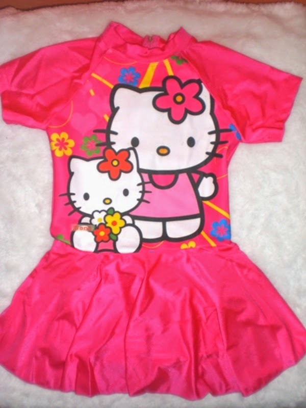 Gambar baju renang hello kitty untuk anak lucu banget