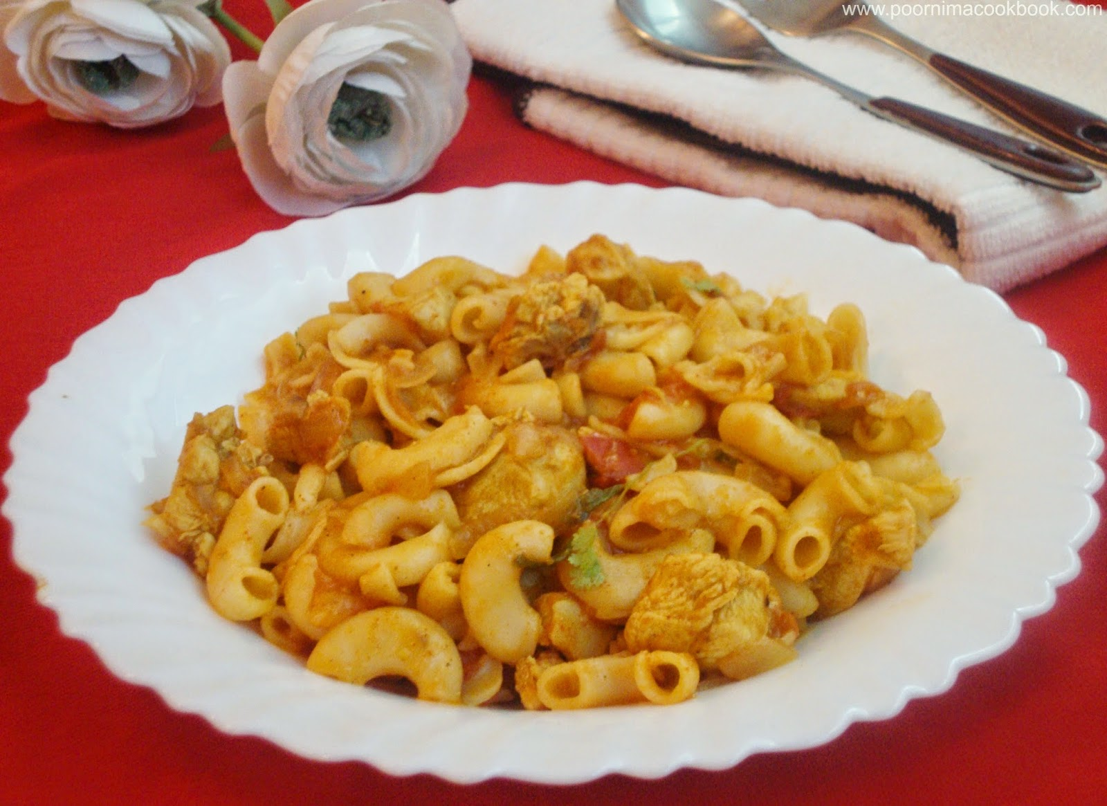 Poornimas cook book chicken masala pasta spicy masala pasta chicken masala pasta spicy masala pasta indian style forumfinder Images