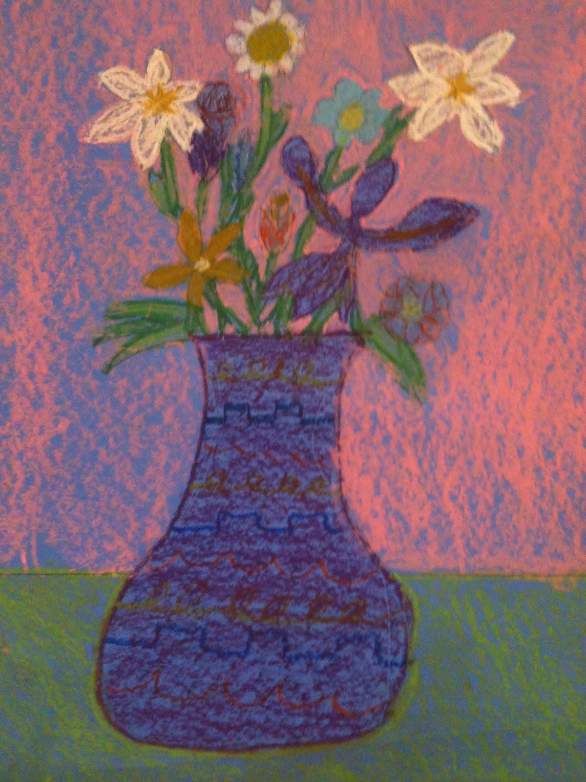 Creating Art 3rd Grade Flowers in Vases