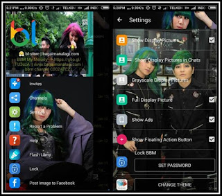 BBM MOD Tema The Virgin With Change Theme and Change Toolbar Color