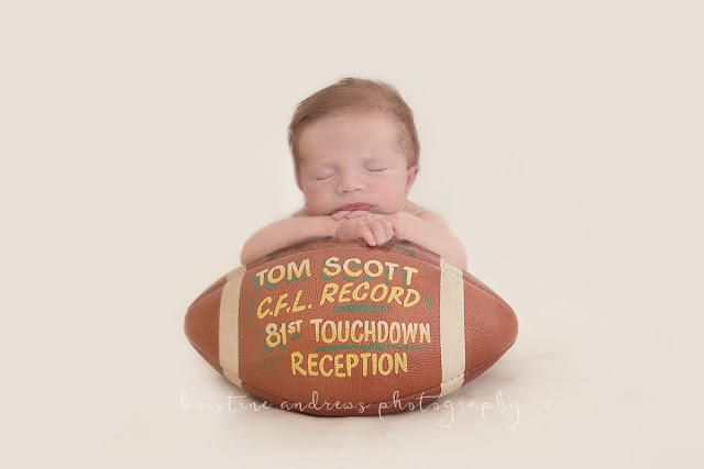 football newborn photo