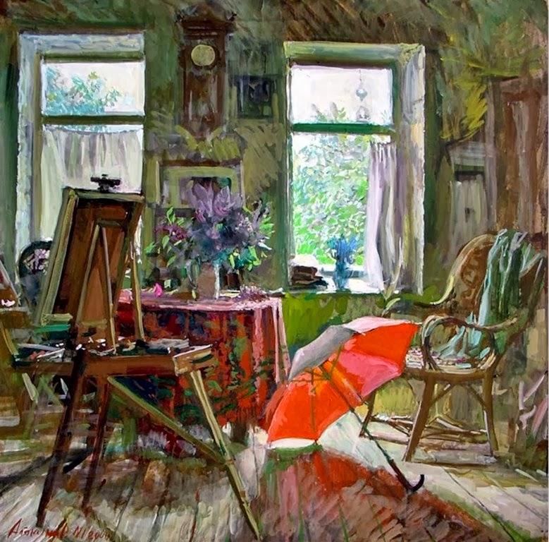 Arte pinturas leo pinturas interiores de casas obras de - Pinturas de casas interiores ...