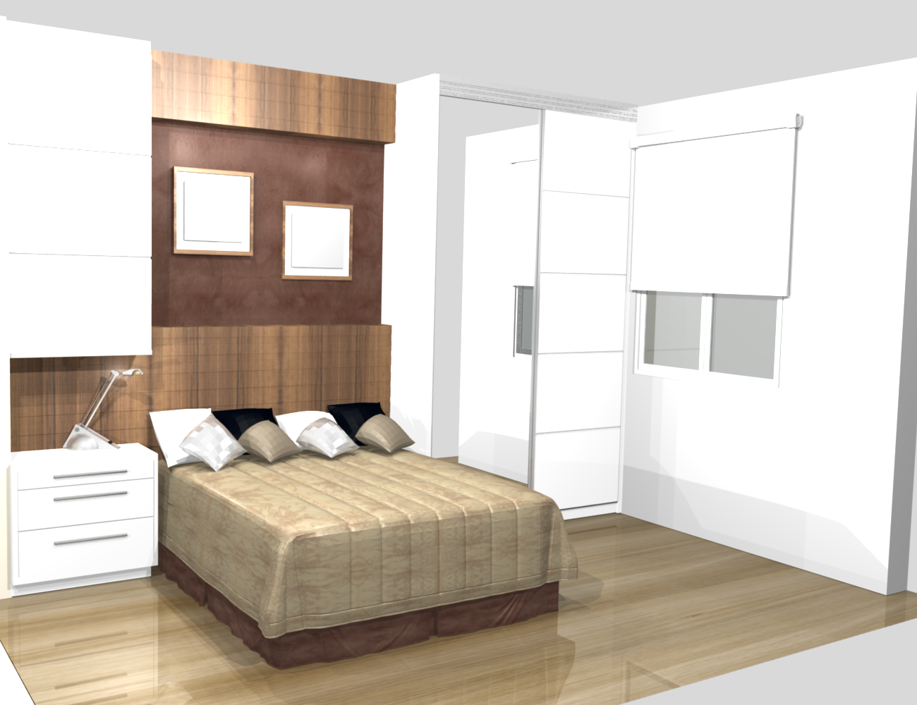 The gallery for modern master bedroom curtains - Dormitorio principal ...