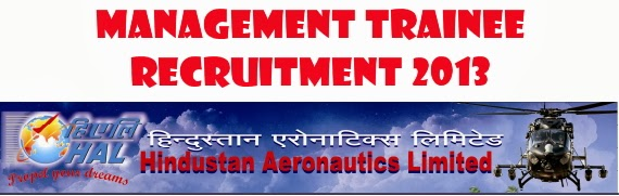 HAL Management Trainee Jobs