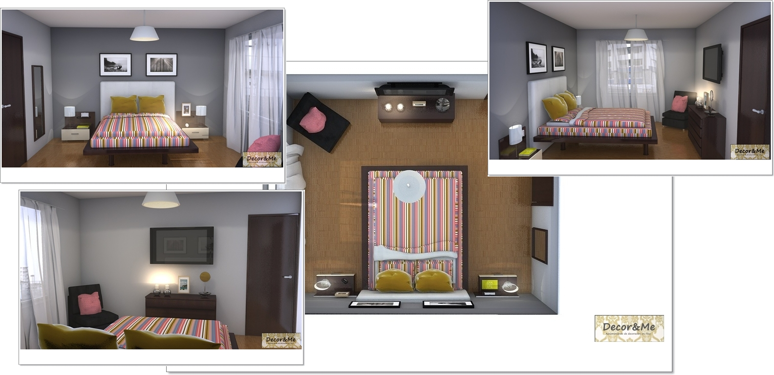 Decor me proyecto de piso en m xico dormitorio principal for Cortinas dormitorio zara home