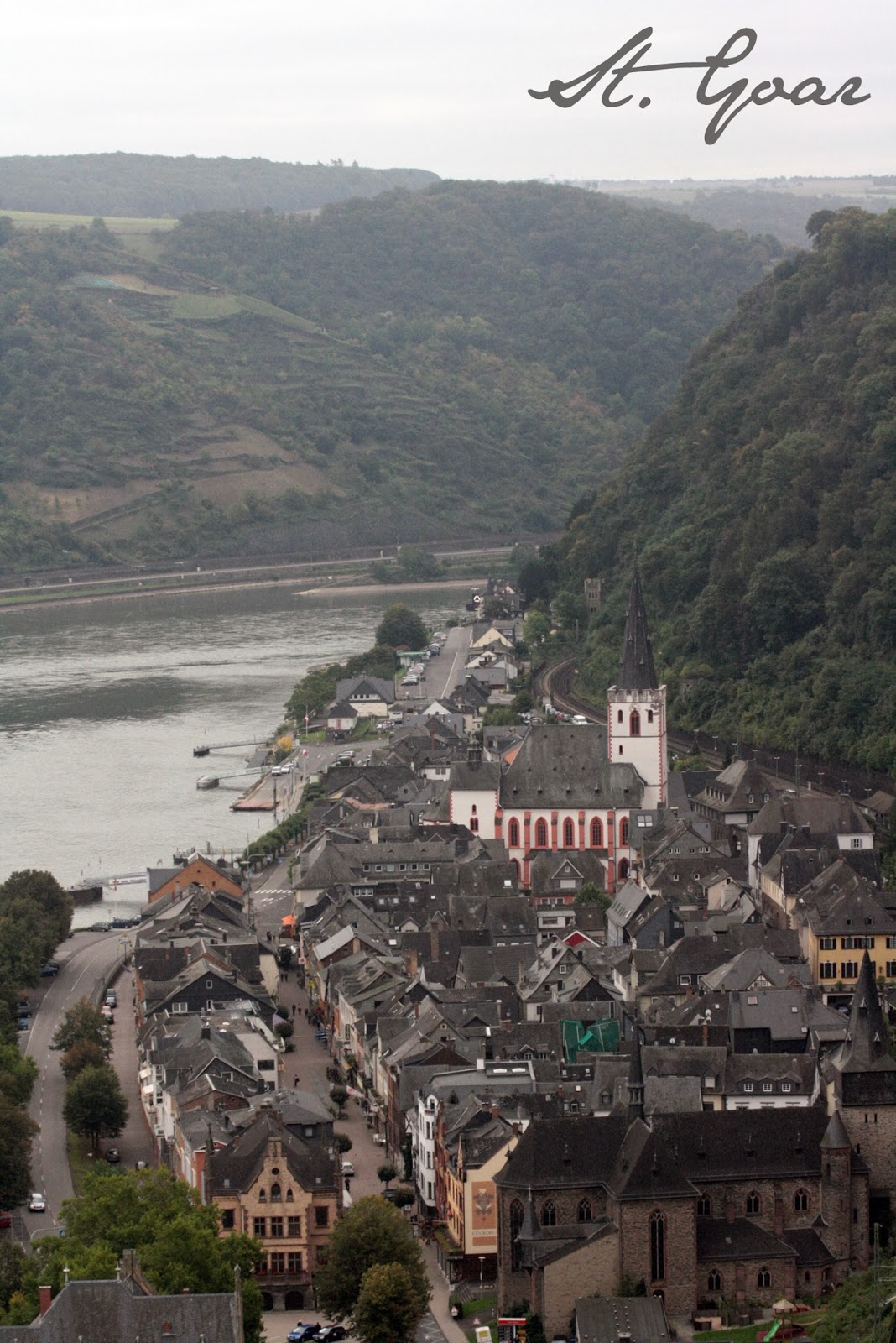 View of St. Goar from Castle Rheinfels - The Tipsy Terrier blog
