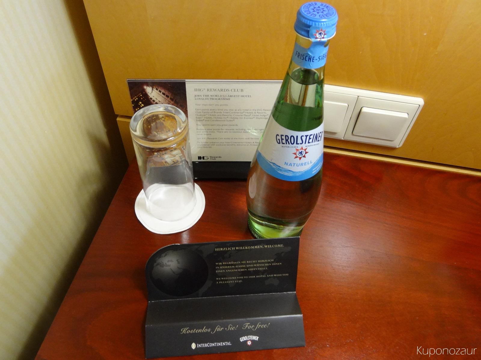 Hotel InterContinental Frankfurt darmowa woda