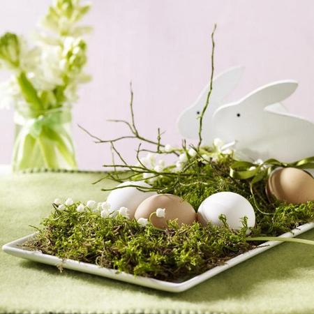 Великденска декорация в пролетно зелено