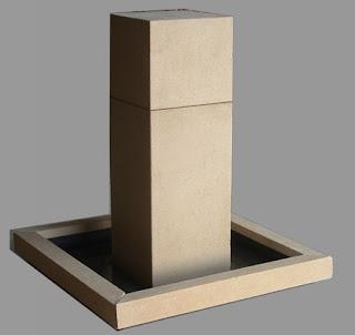 fuente diseño zen con piedra artificial