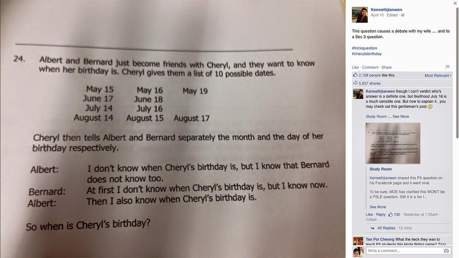 The Center of Math Blog: Are You Smarter than a Singaporean Math ...