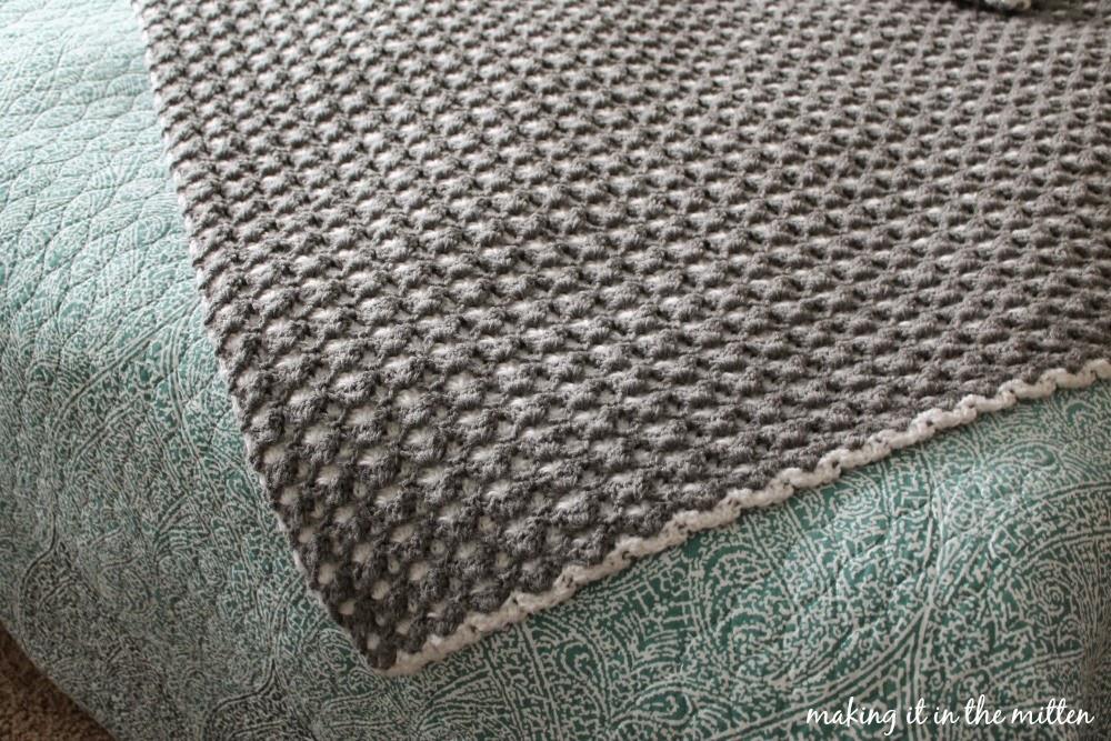 Making It In The Mitten Crocheted Double Sided Shell Blanket Pattern