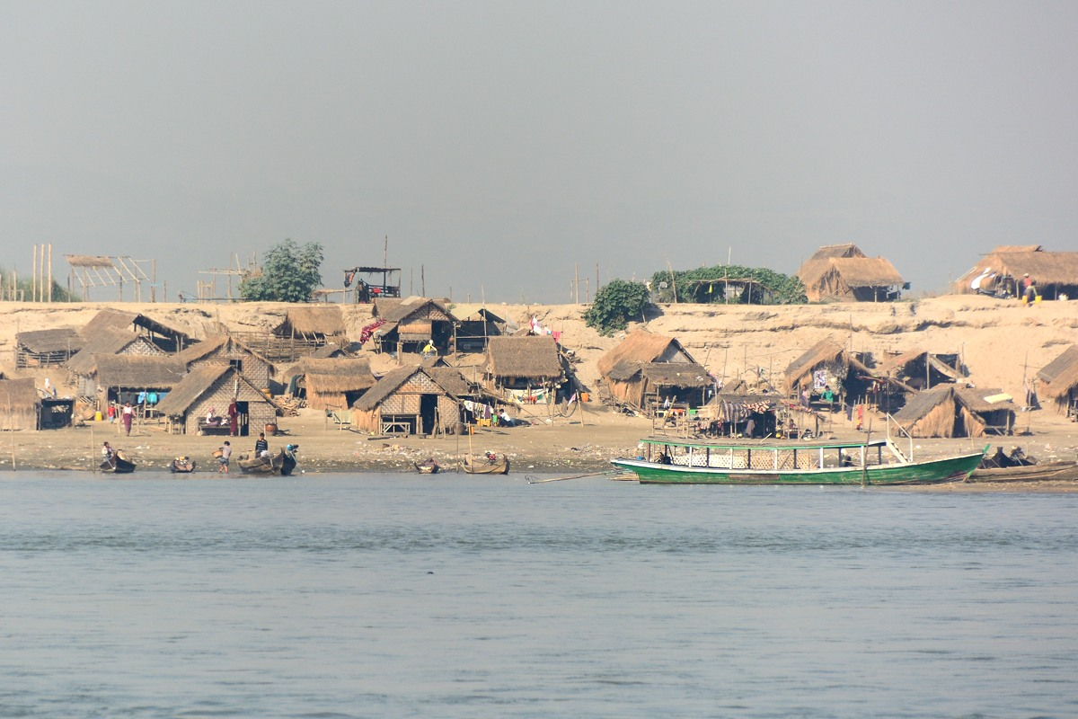 Village on Irrawaddy River
