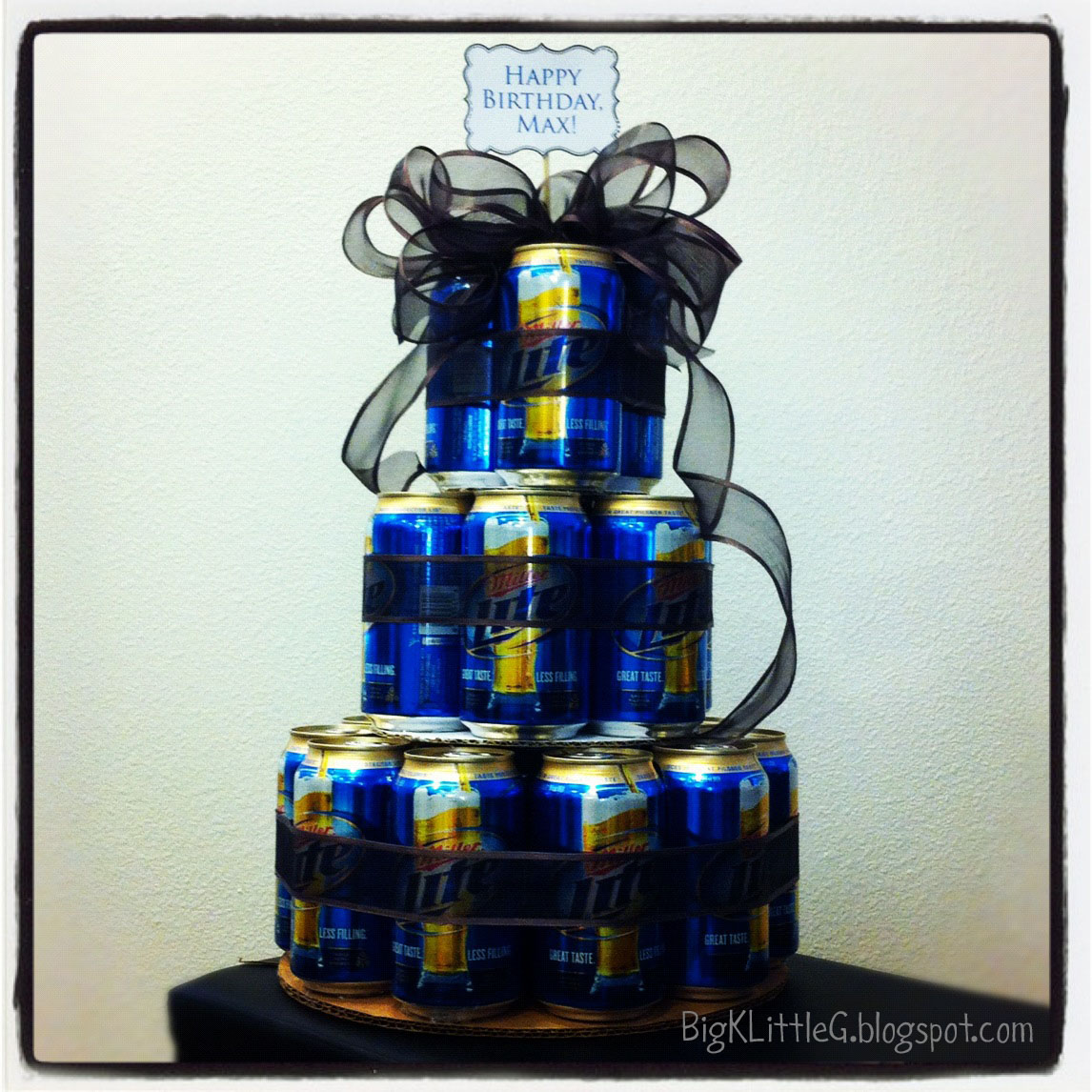 Big K Little G: DIY Three Tiered Beer Cake
