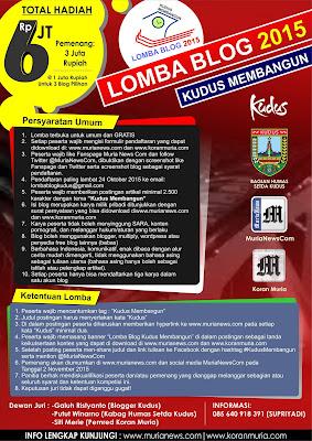 Lomba Blog 2015 Tentang Kabupaten Kudus
