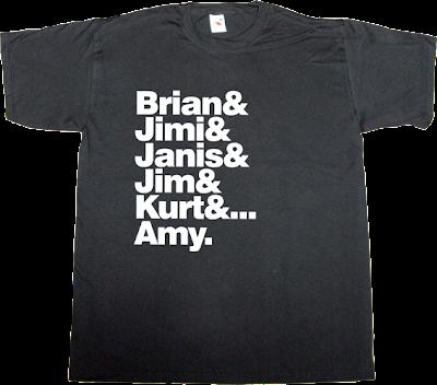 Brian Jones Jimi Hendrix janis joplin jim morrison amy winhouse t-shirt ephemeral-t-shirts