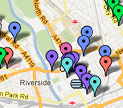 Cardiff Restaurant Review Map:
