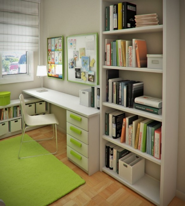 Small Study Room Ideas 590 x 655