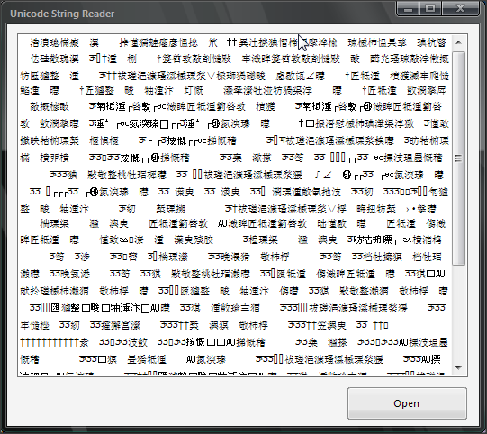 How To Make Unicode String Reader In VB.NET