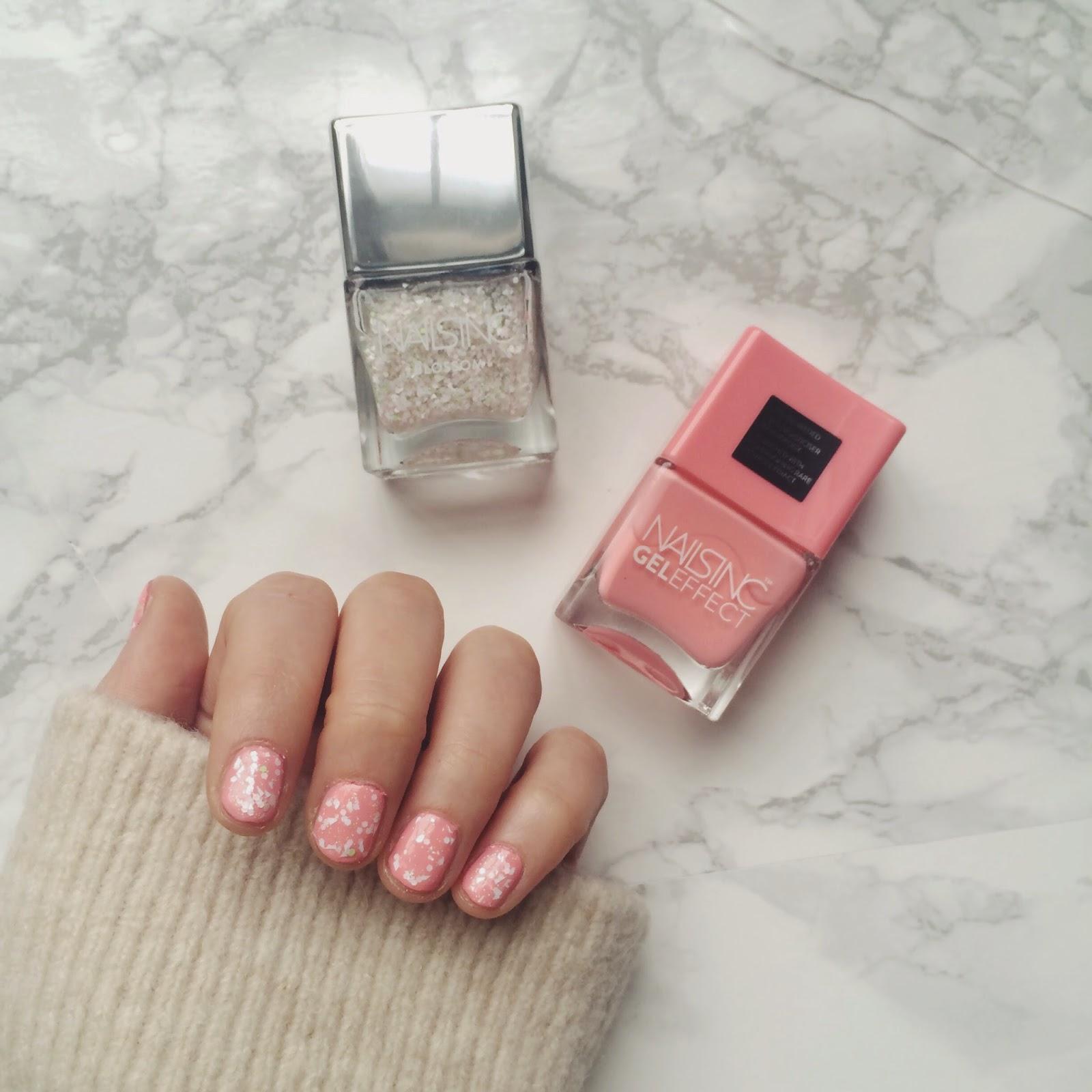 nails inc nail polish review, nails inc blossom collection, nail polish swap, nail polish review, pink nail polish, beauty blogger, fashion blogger