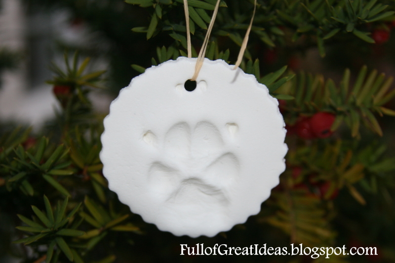 Full of Great Ideas Christmas in October Your Dogs Paw Print