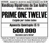Todo A Ganador - Domingo 21/12 - La Plata - Handicap Hípódromo de San Isidro