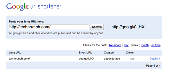 short link google