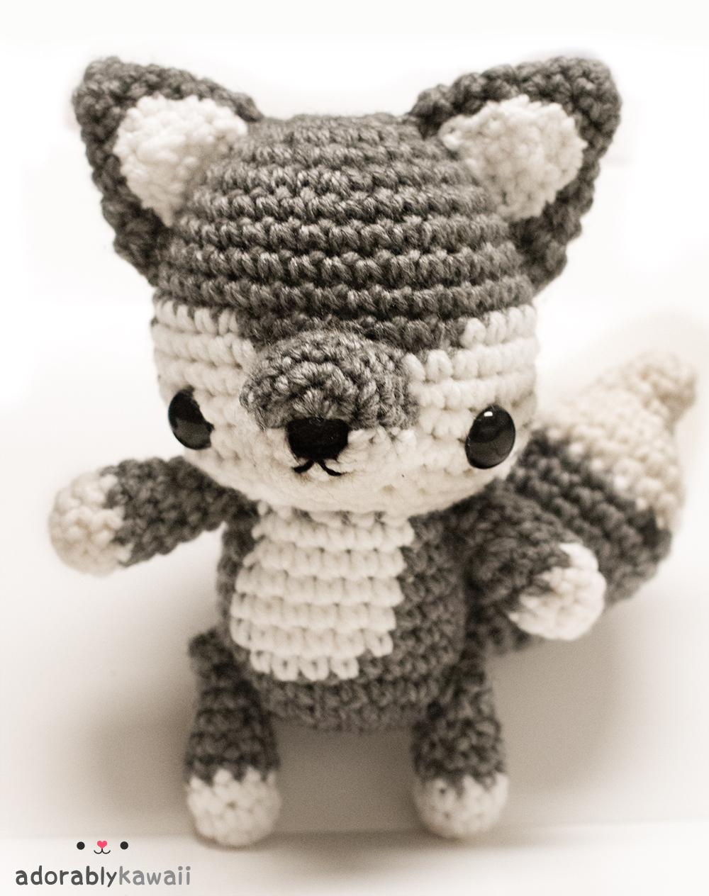 Amigurumi Patterns Wolf : Adorably kawaii baby wolf amigurumi pattern