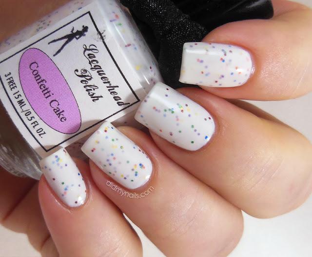 Lacquerhead Polish Confetti Cake swatch
