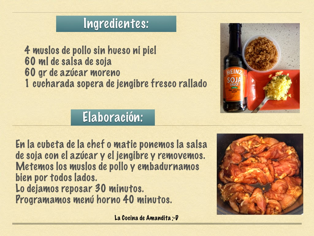 La cocina de amandita d - Recetas cocina chef matic pro ...