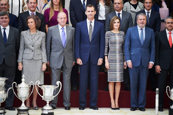 King Felipe VI of Spain and Queen Letizia of Spain, King Juan Carlos of Spain and Queen Sofia of Spain attend National Sport Awards 2014