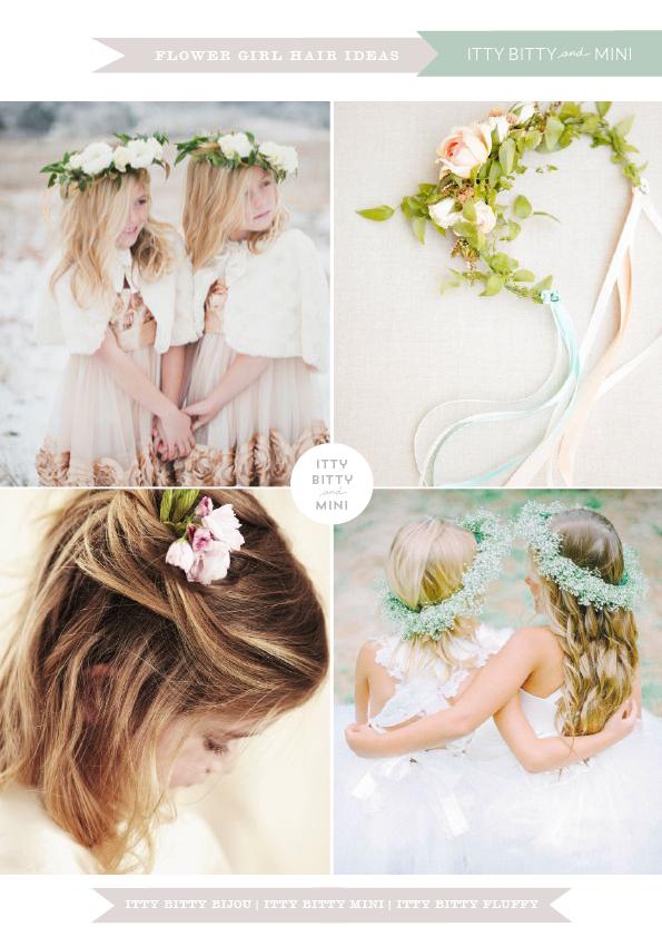 flower girl bridesmaids hairstyles for weddings