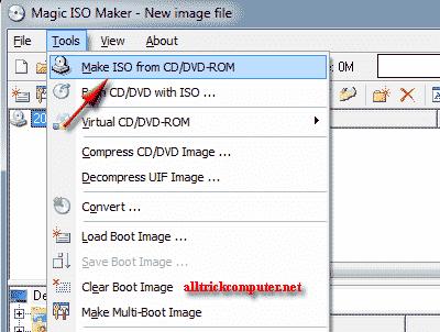 membuat file iso dari cd menggunakan magic iso