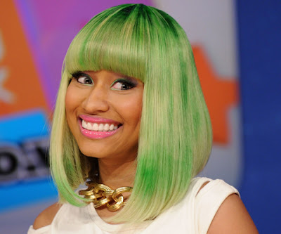 Nicki Minaj Green Hair