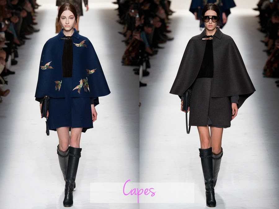 valentino, fall winter, fw, aw, autumn winter, rtw, ready to wear, 2014, designer, fashion blog, fashion review, collection, collection review, valentino fashion, womens fashion, capes