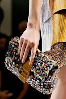 Клъч Fendi с цветни пайети