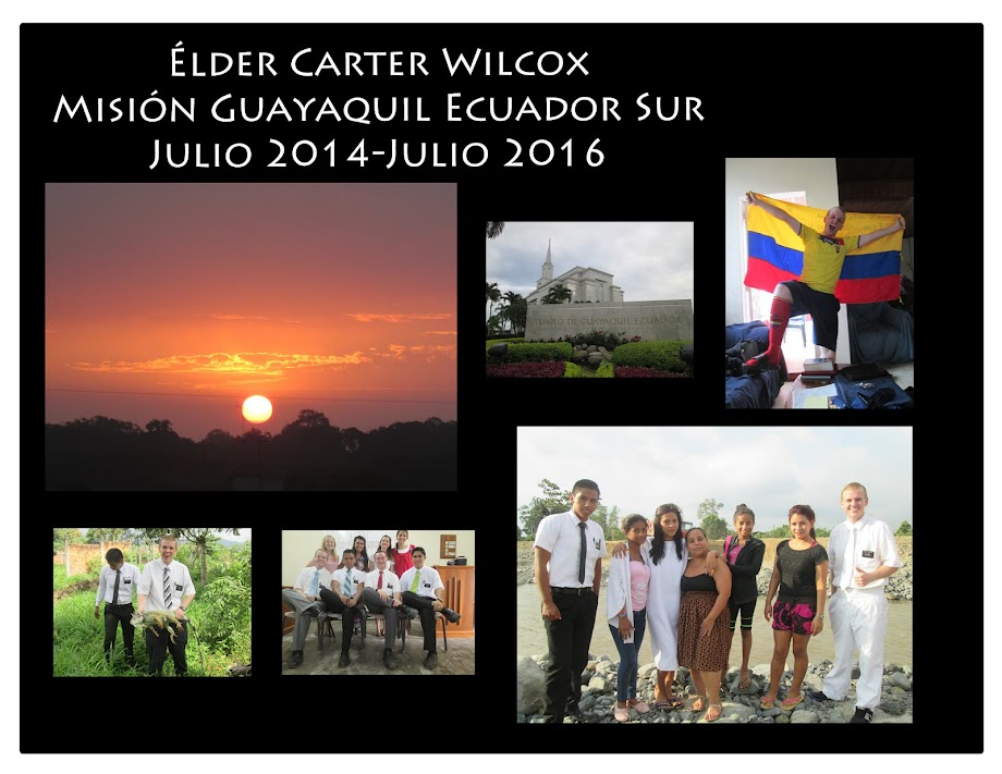 Elder Carter Wilcox: Guayaquil Ecuador South