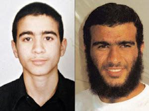 ANTES Y DESPUES. Omar Kadhr cuando fue atrapado y su foto actual en Guantánamo, donde sigue detenid