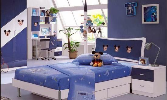 Desain Kamar Tidur Anak Tema Mickey Mouse