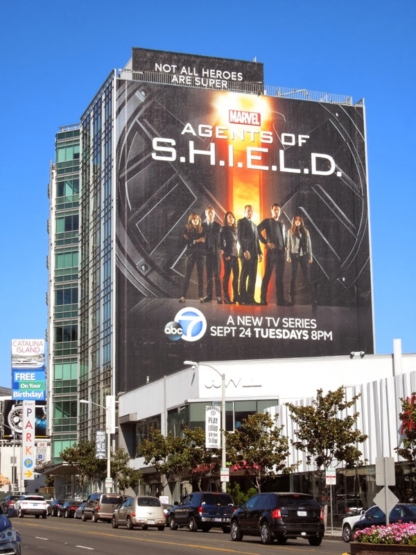 Giant Agents of SHIELD series premiere billboard